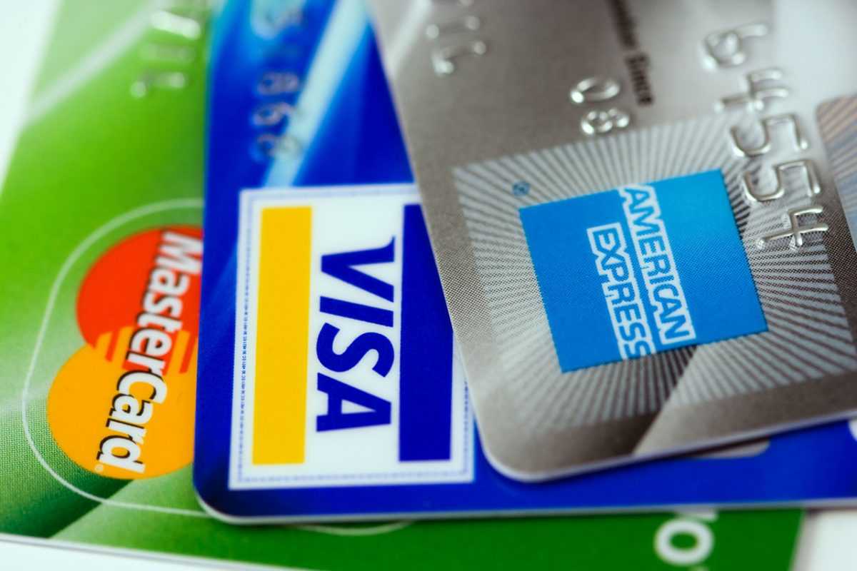 Zahlen mit Kreditkarten